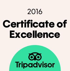 รางวัล Certificate of Excellence จาก TripAdvisor