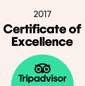 TripAdvisor-Zertifikat für Exzellenz